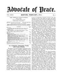 The Advocate of Peace (1894-1920) : 1911... Volume Vol. 73 by