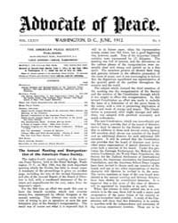 The Advocate of Peace (1894-1920) : 1912... Volume Vol. 74 by