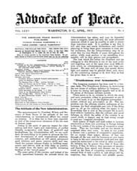 The Advocate of Peace (1894-1920) : 1913... Volume Vol. 75 by