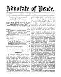 The Advocate of Peace (1894-1920) : 1914... Volume Vol. 76 by
