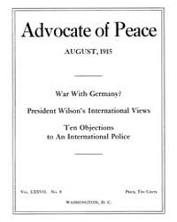 The Advocate of Peace (1894-1920) : 1915... Volume Vol. 77 by