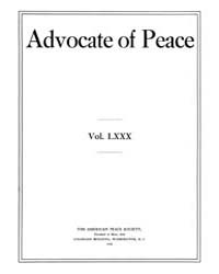 The Advocate of Peace (1894-1920) : 1918... Volume Vol. 80 by