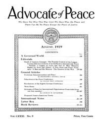 The Advocate of Peace (1894-1920) : 1919... Volume Vol. 81 by