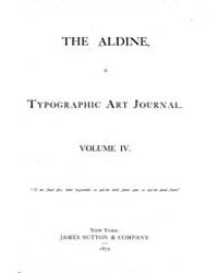 The Aldine : 1871 Vol. 4 No. 1 Jan Volume Vol. 4 by