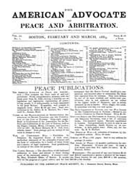The American Advocate of Peace and Arbit... Volume Vol. 51 by Boston, Mass