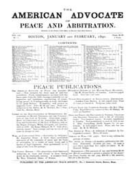 The American Advocate of Peace and Arbit... Volume Vol. 52 by Boston, Mass