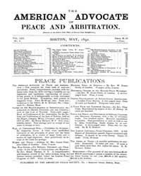 The American Advocate of Peace and Arbit... Volume Vol. 53 by Boston, Mass