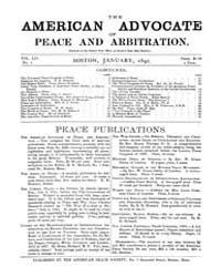 The American Advocate of Peace and Arbit... Volume Vol. 54 by Boston, Mass