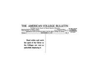 The American College Bulletin : 1917 Vol... Volume Vol. 1 by Roberts, William, C.