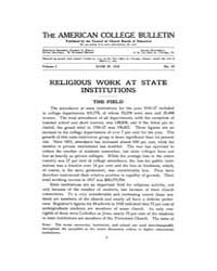 The American College Bulletin : 1918 Vol... Volume Vol. 1 by Roberts, William, C.