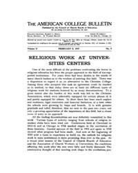 The American College Bulletin : 1919 Vol... Volume Vol. 2 by Roberts, William, C.