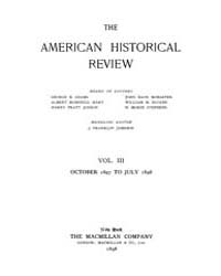 The American Historical Review : 1897 Vo... Volume Vol. 3 by Schneider, Robert, A.