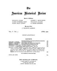 The American Historical Review : 1900 Vo... Volume Vol. 5 by Schneider, Robert, A.