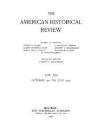 The American Historical Review : 1901 Vo... Volume Vol. 7 by Schneider, Robert, A.