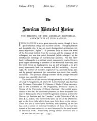 The American Historical Review : 1911 Vo... Volume Vol. 16 by Schneider, Robert, A.