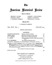 The American Historical Review : 1913 Vo... Volume Vol. 18 by Schneider, Robert, A.