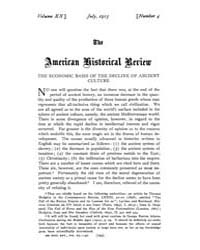 The American Historical Review : 1915 Vo... Volume Vol. 20 by Schneider, Robert, A.