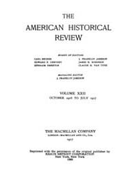 The American Historical Review : 1916 Vo... Volume Vol. 22 by Schneider, Robert, A.