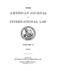 The American Journal of International La... Volume Vol. 2 by