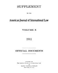 The American Journal of International La... Volume Vol. 5 by