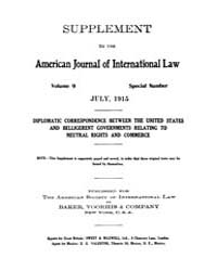 The American Journal of International La... Volume Vol. 9 by