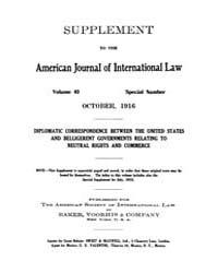 The American Journal of International La... Volume Vol. 10 by