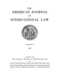 The American Journal of International La... Volume Vol. 12 by