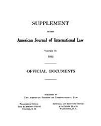 The American Journal of International La... Volume Vol. 16 by