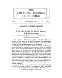 The American Journal of Nursing : 1901 V... Volume Vol. 1 by Kennedy, Maureen, Shawn