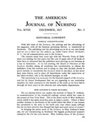 The American Journal of Nursing : 1917 V... Volume Vol. 18 by Kennedy, Maureen, Shawn