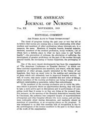 The American Journal of Nursing : 1919 V... Volume Vol. 20 by Kennedy, Maureen, Shawn