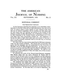 The American Journal of Nursing : 1920 V... Volume Vol. 20 by Kennedy, Maureen, Shawn