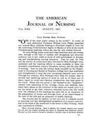 The American Journal of Nursing : 1922 V... Volume Vol. 22 by Kennedy, Maureen, Shawn