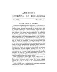 The American Journal of Philology : 1887... Volume Vol. 8 by Larmour, David, H. J.