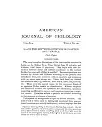 The American Journal of Philology : 1889... Volume Vol. 10 by Larmour, David, H. J.