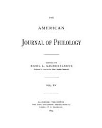 The American Journal of Philology : 1894... Volume Vol. 15 by Larmour, David, H. J.
