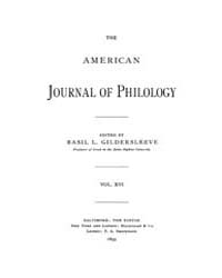 The American Journal of Philology : 1895... Volume Vol. 16 by Larmour, David, H. J.