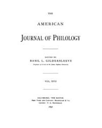 The American Journal of Philology : 1896... Volume Vol. 17 by Larmour, David, H. J.