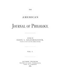 The American Journal of Philology : 1880... Volume Vol. 1 by Larmour, David, H. J.