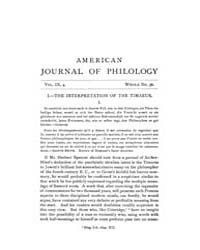 The American Journal of Philology : 1888... Volume Vol. 9 by Larmour, David, H. J.