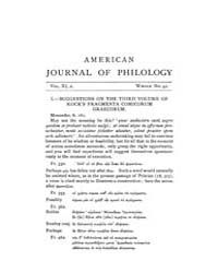 The American Journal of Philology : 1890... Volume Vol. 11 by Larmour, David, H. J.