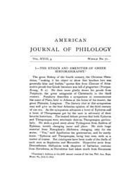 The American Journal of Philology : 1897... Volume Vol. 18 by Larmour, David, H. J.