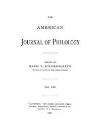 The American Journal of Philology : 1900... Volume Vol. 21 by Larmour, David, H. J.