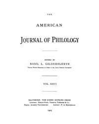 The American Journal of Philology : 1905... Volume Vol. 26 by Larmour, David, H. J.