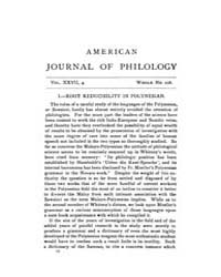 The American Journal of Philology : 1906... Volume Vol. 27 by Larmour, David, H. J.