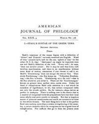 The American Journal of Philology : 1908... Volume Vol. 29 by Larmour, David, H. J.