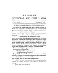 The American Journal of Philology : 1909... Volume Vol. 30 by Larmour, David, H. J.