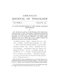 The American Journal of Philology : 1910... Volume Vol. 31 by Larmour, David, H. J.