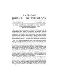 The American Journal of Philology : 1912... Volume Vol. 33 by Larmour, David, H. J.