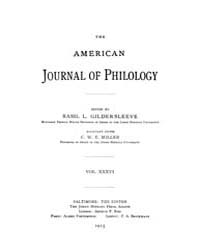 The American Journal of Philology : 1915... Volume Vol. 36 by Larmour, David, H. J.